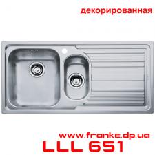 Мойка Franke, серия - Logica Line LLL 651, декорированная
