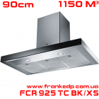 Вытяжка Franke, серия CRYSTAL, FCR 925 TC BK XS
