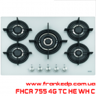 Газовая варочная поверхность FRANKE FHCR 755 4G TC HE WH C